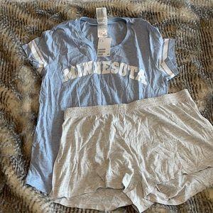 Forever 21 blue gray pajamas Minnesota